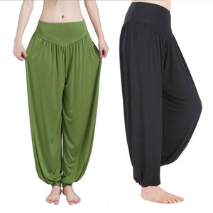 Yoga Pants Women Plus Size Colorful Bloomers Dance Yoga TaiChi Full Length Pants Smooth No Shrink Antistatic Pants 3XL Dropship8