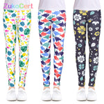 Загрузить изображение в средство просмотра галереи, Girls Leggings for Outdoor Travel Clothes Girls Pants Student Casual Wear Customizable Stylish Computer Printing For 4-13 Years