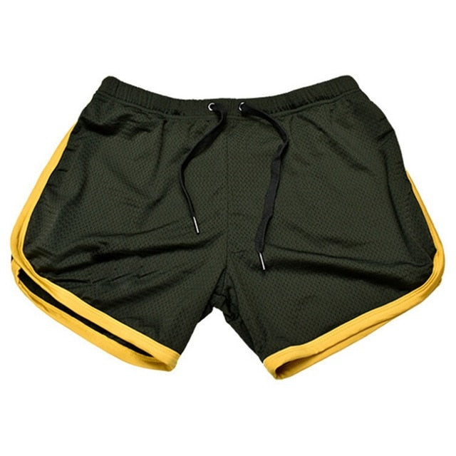 Men Bodybuilding Shorts Fitness Gym Running Jogging Clothing Athletics Net Solid Outdoor Shorts