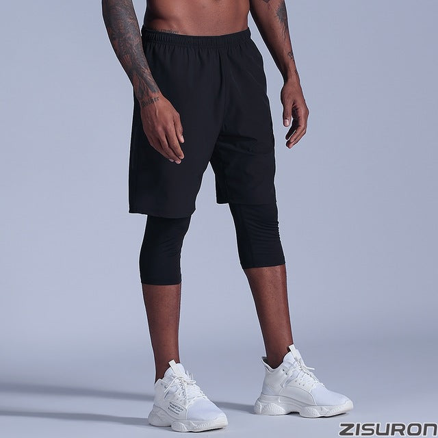 Men basketball shorts sport Running Shorts 2 in 1 Jogging Fitness Shorts Training Quick Dry Gym Shorts gym tight Short Pants