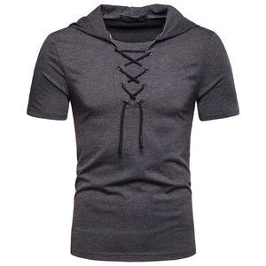Hooded T Shirt Men 2019 New Short Sleeve Streetwear O Neck Mens tshirts Summer Casual Slim Fit Hoody Tee Shirt Homme Top Tees