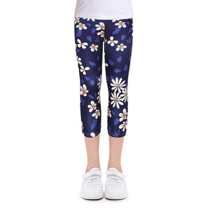 Kids Children Pencil Pants Leggings for 4-10Y Girl Clothes Summer Girls Leggings Skinny Calf-length Cropped Trousers