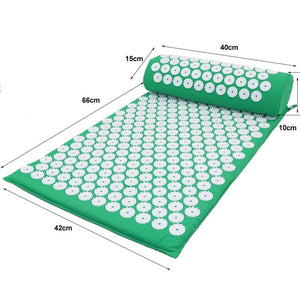 Acupressure Mat Massager Cushion Massage Yoga Mat Relieve Stress Back Body Pain Spike Acupuncture Mat with Pillow