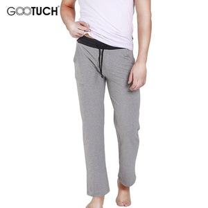 Men's Cotton Sleep Bottoms Sleep Wear Drawstring Pajamas Pants Casual Home Wear Loose Lounge Pants Plus Size Underwear Pyjamas
