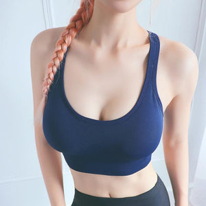 2020 Sexy Sports Bra Women Solid Yoga Tank Crop Top Fitness Push up Adjustable Shockproof Shirt Running Athletic Fast Dry Vest