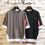 Load image into Gallery viewer, Fashion Half Short Sleeves Fashion O NECK Casual T-shirt Men's Cotton 2020 Summer Clothes TOP TEES Tshirt Plus Asian Size M-5X.