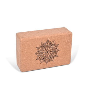 Cork yoga block foam brick black Stretching Aid Gym Pilates for Exercise Fitness Sport Pilates Workout Body Balance Support