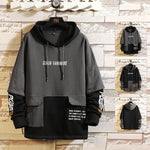 Load image into Gallery viewer, Japan Style Casual O-Neck 2020 Spring Autumn Print Hoodie Sweatshirt Men'S Thick Fleece Hip Hop High Streetwear Clothes