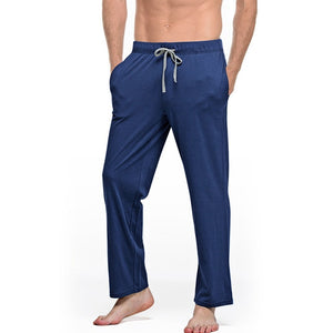 Mens Cotton Pajama Pants Solid Casual Loose Men Sleepwear Bottom New Arrival Breathable Soft Pyjamas Trousers Home Wear MA50167