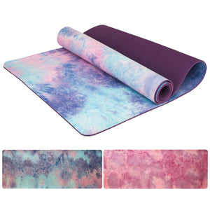 5mm Gym Sports Yoga Mat Suede Tie-dye Non-slip Fitness Losing Weight Pilates Slim Aerobic Yoga Pad Camping Exercise Massage Mat