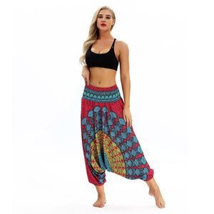 Women Casual Loose Yoga Trousers Baggy Boho Aladdin Jumpsuit Harem Pants Seamless Leggings Pants Ropa Deporte Mujer