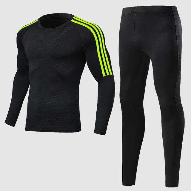Compression sport suits men sport sport sports quick drying running clothing sets joggers training gym fitness workout set