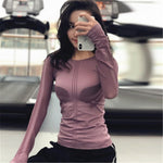 Load image into Gallery viewer, Yoga Tops Women Sportswear S M L Air Mesh Long Sleeve Yoga Shirt Running Jogging Sport Tops Fitness Workout Gym Clothing Women