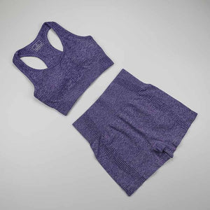 Workout Clothes For Women Seamless Yoga Sports Suits Sport Bra Top+High Waist Fitness Shorts 2 Piece Gym Set Running Sportswear