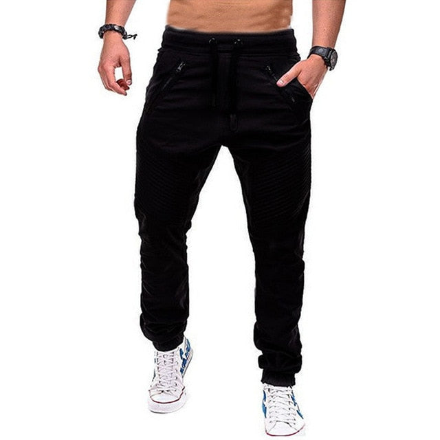 Men joggers Sweatpants Casual Pants With Cuffs Solid Thin Male Pantalones Hombre Long Trousers Mens Sportswear Harem Chinos
