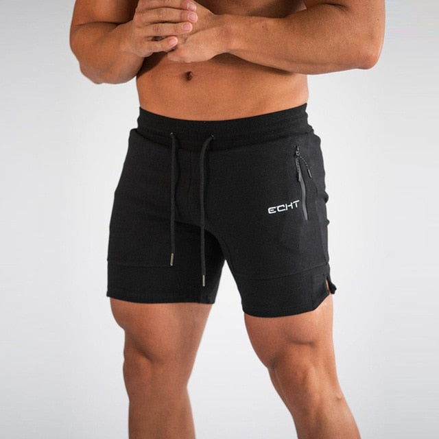 Men Summer mesh Running Shorts Men Brand New gym Shorts 2019 Solid Breathable Elastic Waist Jogger quick-drying sport shorts men