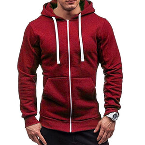 2020 Summer Men Casual Hoodies Male Sweatshirt Zipper Long Sleeve Hooded Spring Jacket Coat Male Zipper Pocket Casual Hoodies