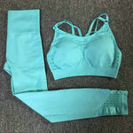 Load image into Gallery viewer, Sexy Sports Suits Seamless Yoga Set Women Fitness Clothing Sportswear Woman Gym Leggings Padded Push-up Sports Bra 1728/1788