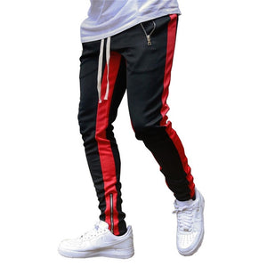 Striped Running Pants Men Joggers Sport Pencil Pants Hiking Sweatpants Gym Fitness Training Jogging Pants Men Workout Trousers
