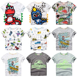Load image into Gallery viewer, INPEPNOW Children T-shirt for Boy 2020 Animal Print Dinosaur Boys T Shirt for Girls Tops Cartoon Kids tshirt Clothes 5-14 Yrs