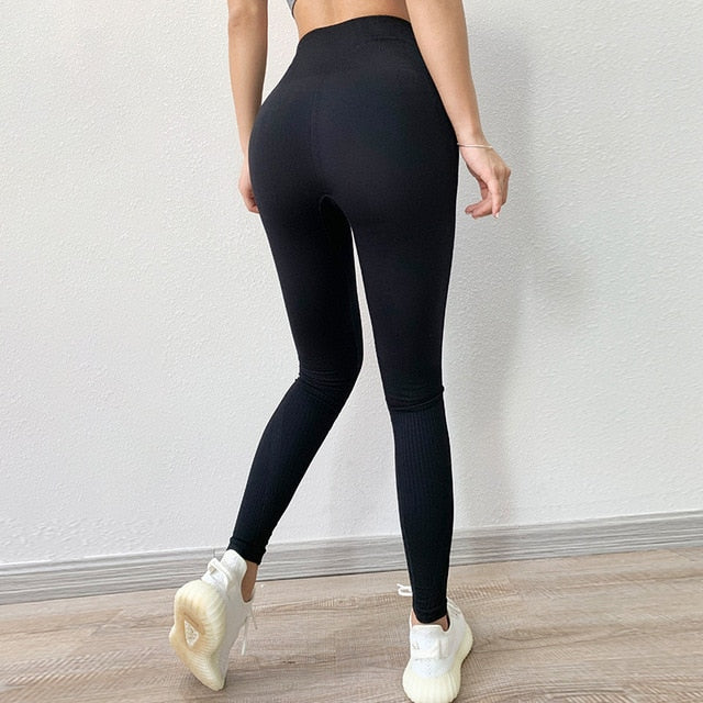Fitness High Waist Legging Tummy Control Seamless Energy Gymwear Workout Running Activewear Yoga Pant Hip Lifting Trainning Wear