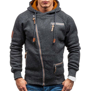 New Hoodie Men Spring Casual with Slim Zipper