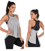 Load image into Gallery viewer, Women Fitness Sports Shirt Sleeveless Yoga Top Running GymShirt Vest Athletic Undershirt Yoga Gym Wear Tank Top Quick Dry