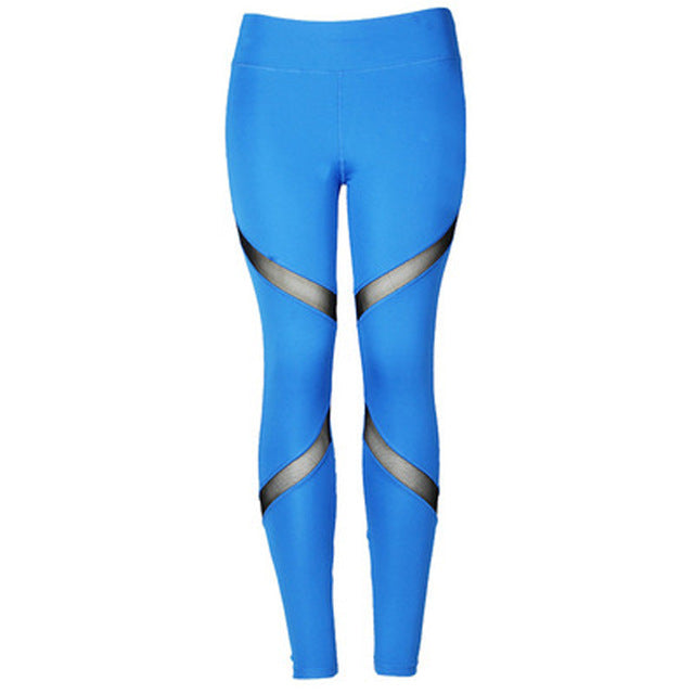 Sexy Yoga Pants Women Mesh Leggings Sport Women Fitness Running Sportswear Sports Pants Fitness Gym Girl Leggins Sportleggings