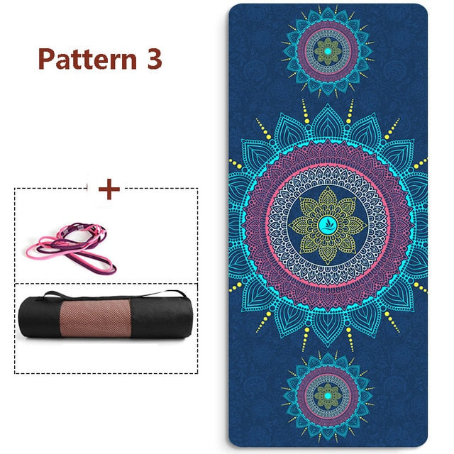 6mm Thickened  TPE Esterilla Yoga Colchoneta Ejercicio Floor Mat For pilates  Tapis Sport Fitness Epais Absorb Sweat Breathable