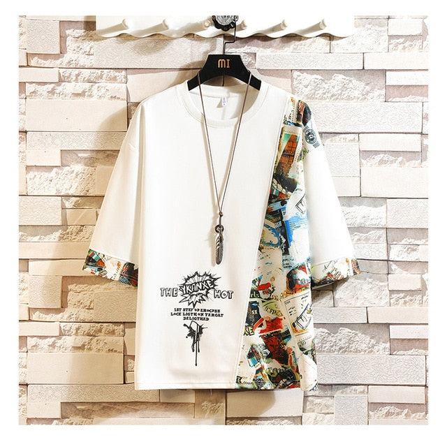 Short Sleeve T Shirt Men 2020 Summer High Quality Tshirt Top Tees 3D Print Brand Fashion Clothes Plus Size M-5XL 6XL 7XL O NECK