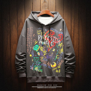 2020 AUTUMN  Spring Fashion High Quality Sweatshirt Men Hip Hop Long Sleeve Pullover Hoodies Sweatshirt Clothes