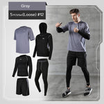 Load image into Gallery viewer, REXCHI 5 Pcs/Set Men's Tracksuit Gym Fitness Compression Sports Suit Clothes Running Jogging Sport Wear Exercise Workout Tights