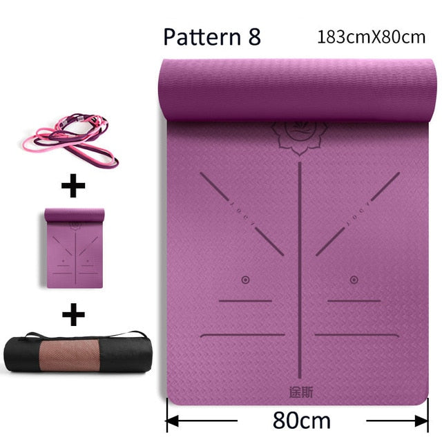 6mm Fitness Yoga Mat Colchonete De Academia Gymnastics Floor Sensi Meditation Training Mat For Pilates Reformer Yoga Knee Pads
