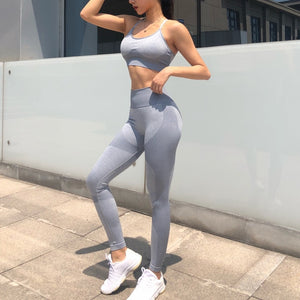 Women 2 Piece suit Yoga Set Sports Bra and Leggings