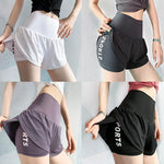 Load image into Gallery viewer, women High waist sport shorts mesh yoga workout hot shorts Jogging fitness sportwear