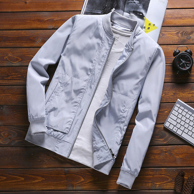 2020 Zip Up Men Jacket Spring Autumn Fashion Brand Slim Fit Coats Male Casual Baseball Bomber Jacket Mens Overcoat Plus size 4XL