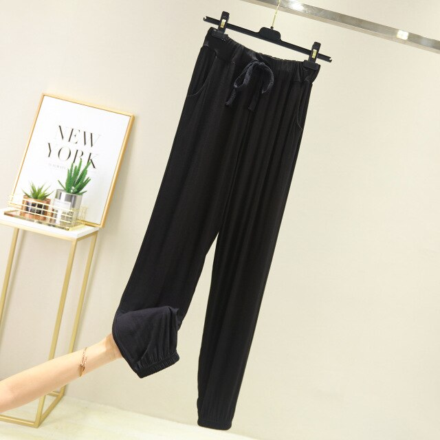 Modal Yoga Pants Women Casual Pants sport women fitness pants Pajamas Loungewear Home Wear Elastic jogger Pants sweatpants