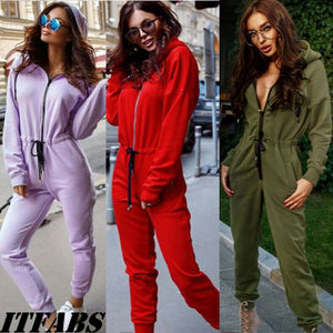 Yoga Womens Plain Tracksuit Hoodies Sweatshirt Pants Zip Suit Outwear Loungewear