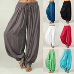 Load image into Gallery viewer, New Women Yoga Pants Casual Harem Trousers Yoga Baggy Wide Leg Boho Hippy Loose Pants Sportswear