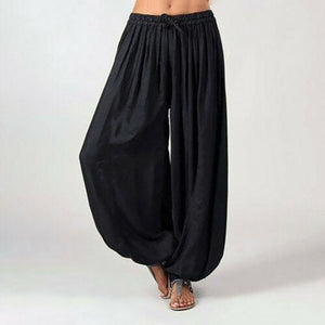 New Women Yoga Pants Casual Harem Trousers Yoga Baggy Wide Leg Boho Hippy Loose Pants Sportswear
