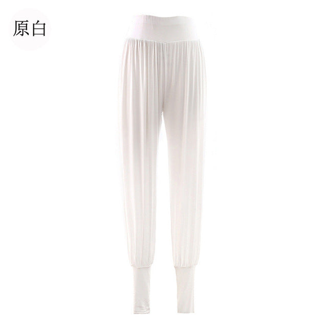 Yoga Pants Women Fitness Leggings Bloom Harem Pants Loose White Classical Dance Gym Run Workout Training Sport Wear Clothing