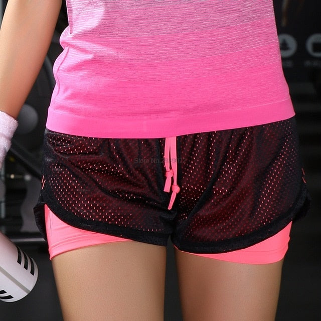 Women Breathable Mesh Gym yoga shorts lulu Training sports wear jogging cycling Fitness leggings short athletic workout clothes