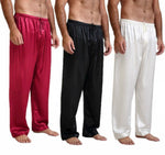 Load image into Gallery viewer, Mens Silk Satin Pajamas Pyjamas Pants Lounge Pants Sleep Bottoms Size S-XL Plus
