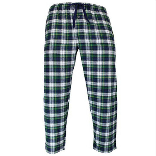 New Men's Ladies Fashion Loose Sleep Bottoms Plaid Flannel Lounge/Pajama PJ Pants Size M-2XL Bottoms Casual Pants
