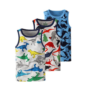 Baby Boy's Vests Sleeveless T-shirts Kid's Summer Vest Top Apparel Childre Boy's Handsome Cotton Tees Cool Clothes 2-10T