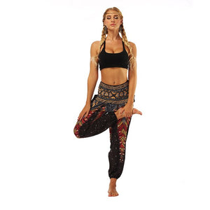 Women Loose Hippy Yoga Trousers Baggy Harem Pants Sexy Comfortable Athletic Sports Running Print Yoga Pants Mommy and Me Clothes
