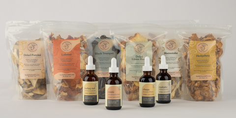 Nearby Naturals Dried Mushrooms and Supplement Products
