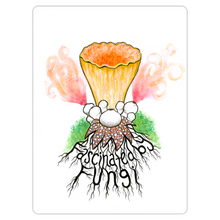 Load image into Gallery viewer, Fascinated By Fungi Mushroom Magnet(@Symbiiotica Mycelium Trumpet)