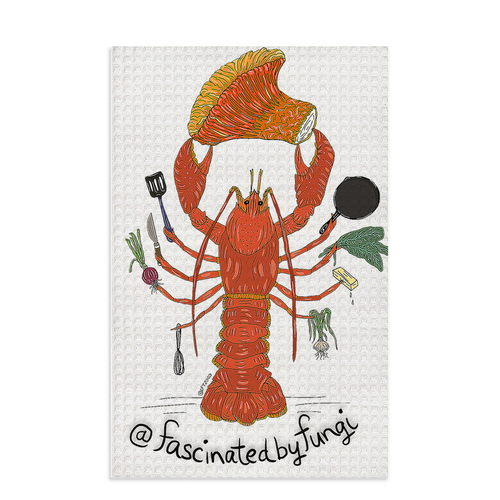 Fascinated By Fungi Lobster Chef (@Lynlee_T) Dish Towels