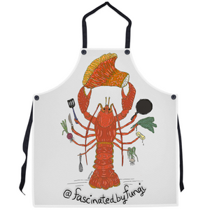 Fascinated By Fungi Lobster Chef (Lynlee_T) Apron